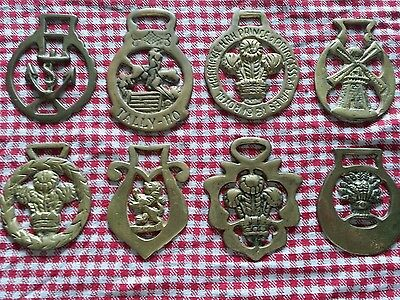 8 x Assorted Horse Brasses