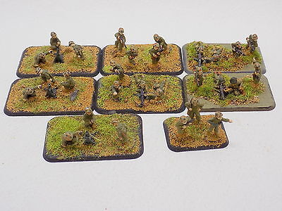 15mm WW2 US SUPPORT WEAPONS 8 bases Well Painted Flames of War Battlefront 40947