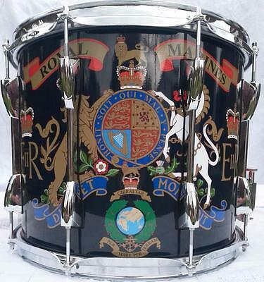 Royal Marines/ Cadet Marching Snare Drum, Traditional double snare marching drum