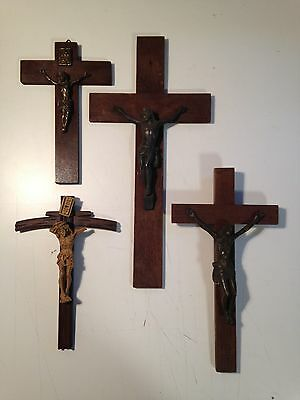 Vintage French Crucifix Job Lot  Religious Items