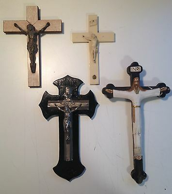 Vintage French Crucifix Job Lot A Religious Items