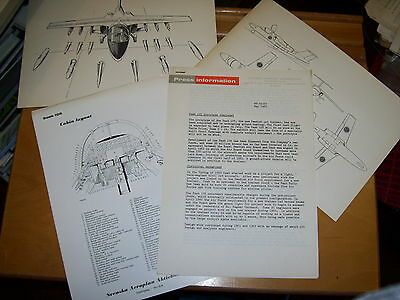 Saab 105 Prototype Press Release May 1963 + Three View Weapon & Cockpit Drawings