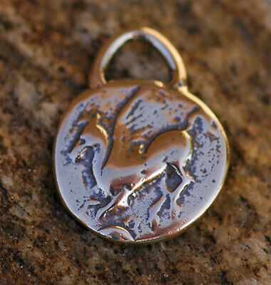 Pegasus and Apollo Coin Charm in Sterling Silver -184s