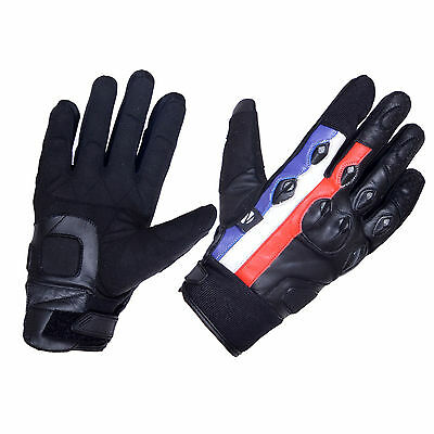 Durable Motorbike Motorcycle Gloves Leather Knuckle Protection Road/Off Road