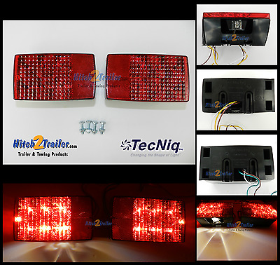 Submersible LED Combination Trailer Tail Lights Stud Mount, Marine, Boat USA
