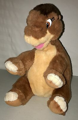 """Vintage 1988 The Land Before Time 16"""" Littlefoot Plush by Gund Dinosaur"""