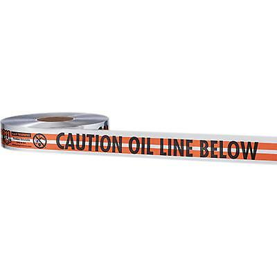 "31-087 Empire 2""X1000' Orange Prem ""Caution Oil Line Below"" Pack of 6"