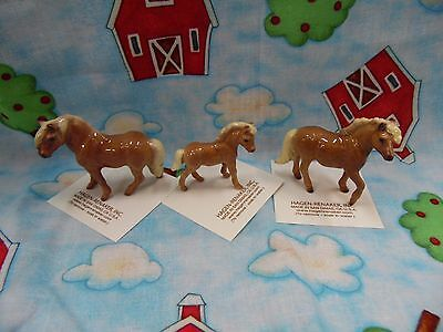 Hagen Renaker Horse Shetland Set of 3 Mare,Colt,Stallion Figurine Miniature new