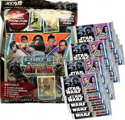 TOPPS - Star Wars - Force Attax - Universe - 1 Starter + 20 Booster - Deutsch