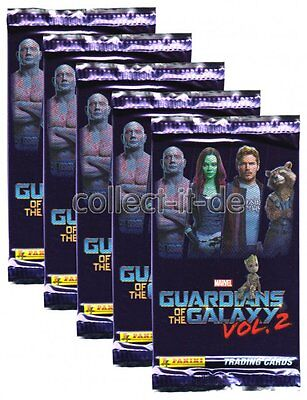 Panini - Marvel Guardians of the Galaxy Vol.2 - 5 Booster - Deutsch