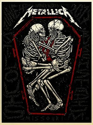 Official Metallica - 2017 Busch Stadium  St. Louis, MO Poster - Quartz Edition