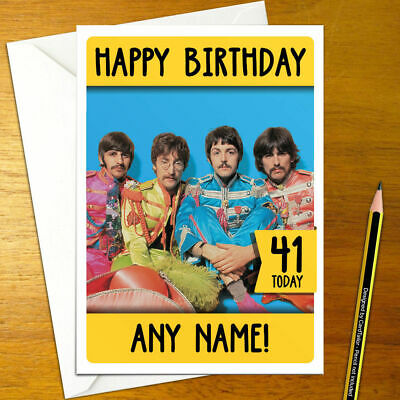 The Beatles Birthday Card Stunning Quality At Low Price