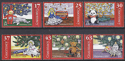 Guernsey 1998 Christmas (Christmas Tree) Set UM SG810-5 Cat £6.50