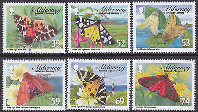 Alderney 2012 Tiger Moths & Ermines Set UM SGA460-5 Cat £8.00