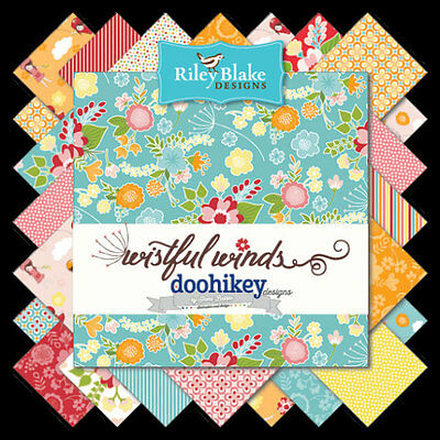 "Patchwork/quilting Fabric Layer Cake Riley Blake - Wistful Winds 10"" X 10"" X 18"