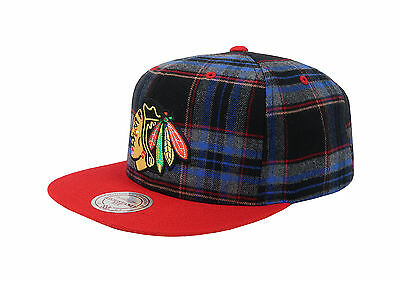 Mitchell & Ness Men Unisex Hat Cap Black NHL Chicago Blackhawks Adjustable Fit