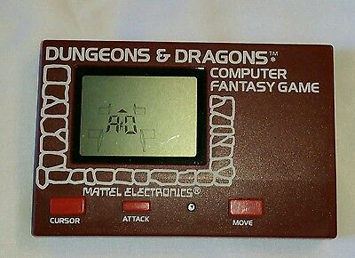 1981 Mattel Dungeons & Dragons Hand Held Video Game With Printed Instructions