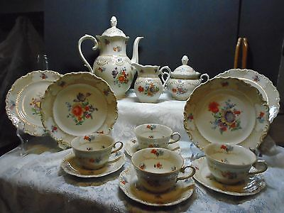 Bavaria Schumann China Vintage Dinnerware With  Hostess Pieces Germany