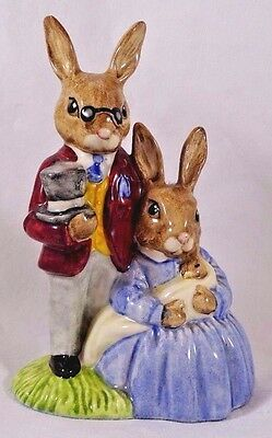 Vintage Royal Doulton Father Mother and Victoria Bunnykins Figurine