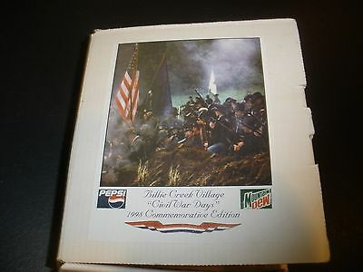 Billie Creek Village Civil War Days 1998 Commemorative Mountain Dew Bank and Pen