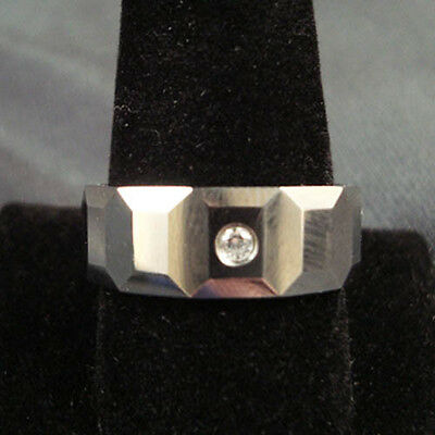 Men Tungsten Carbide Multi Ridge with CZ Stone Wedding Band Ring 8mm size 9-13