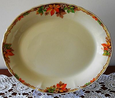 Meat Platter Grindley Cream Petal Alison Autumn Leaves Made In England 1940s