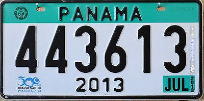 USA Number Licence Plate PANAMA 2013