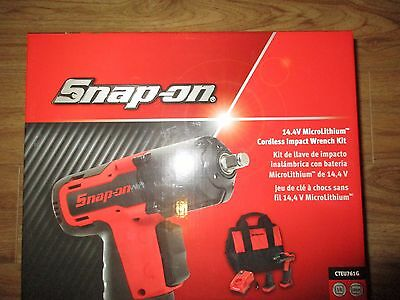 "Snap On 14.4v cordless extreme green 3/8""dr impact wrench gun set CTEU761G NEW"