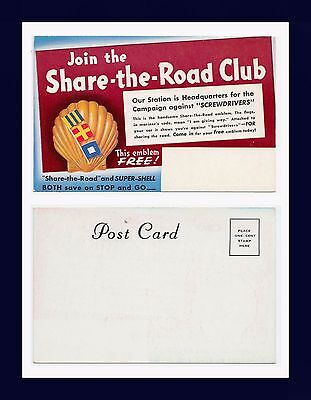 """Shell Oil Share The Road Club Campaign Against """"screwdrivers"""" Circa 1938"""