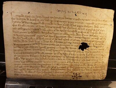 1334 - Very Rare Medieval Time Latin Manuscript on Parchment Period PHILIP VI