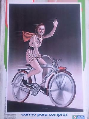 antique bicycle Silver King Wingbar bike POSTER 13x18 SIGN