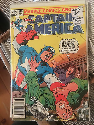 CAPTAIN AMERICA #279 VF/NM 1st Print CANADIAN PRICE VARIANT Mike Zeck