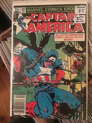 CAPTAIN AMERICA #280 VF/NM 1st Print CANADIAN PRICE VARIANT Mike Zeck