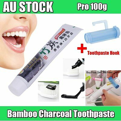 Pro 100g Bamboo Charcoal All-Purpose Teeth Whitening Clean Black Toothpaste OO