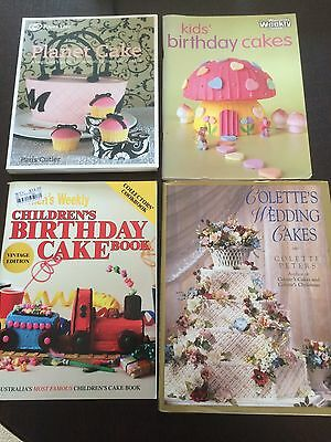 "4 Books ""Planet Cake"", ""Kids' Birthday Cakes"", ""Children's Birthday Cake Book"""