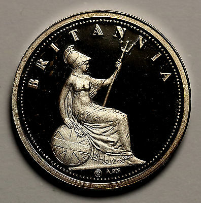 1834 Ionian Islands 30 Lepta Restrike Sterling Silver Proof Piedfort FDC Coin