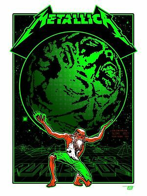 Official Metallica 2017 Met Life Stadium, East Rutherford,NJ Poster Tour Edition