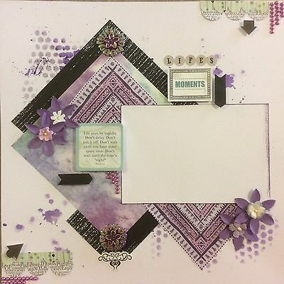 handmade scrapbook page 12 X 12 Life's Moments Themed Layout