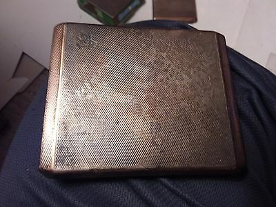 Sterling Silver Hallmarked Cigarette Box - From Evelyn 1934 - 141.1 Grams