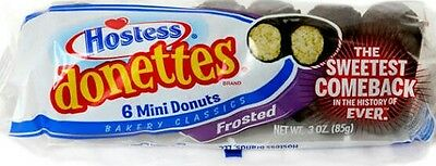 2x Hostess Donettes Frosted (6 Mini Donuts in each pack) 85g