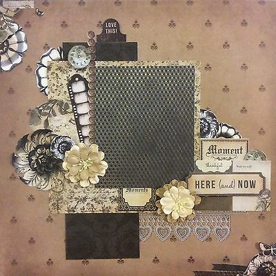 handmade scrapbook page 12 X 12 Here And Now Themed Layout