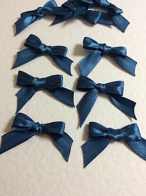 30 Blue 10mm Ribbon bows 🎀 for card making/scrap booking help charity