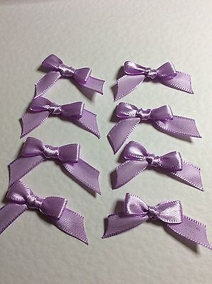 30 Lilac Pink 10mm Ribbon bows 🎀 for card making/scrap booking help charity