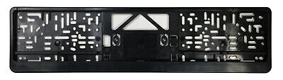German License Plate Frame / Euro Evo2 Frame BMW VW Mercedes Mini Audi    Black