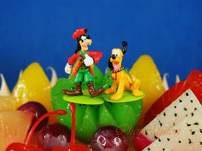 Disney Pirate Goofy Pluto Cake Topper Figure Model Decoration K1271 G H