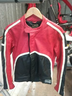 Cafe Racer Motorcycle Biker Leather Jacket Gratzer Echt Leder vintage retro