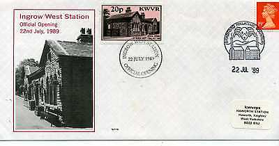 Great Britain Kwvr Railway  Ingrow West Station Official Opening Cover
