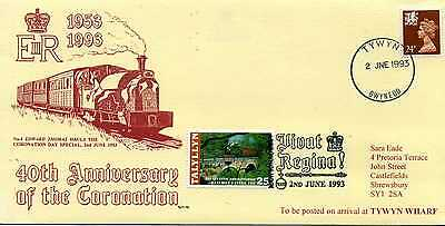 GREAT BRITAIN TALYLLYN RAILWAY 40th ANNIVERSARY OF THE CORONATION COVER