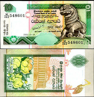 Sri Lanka P-115 /& P-116 10 /& 20 Rupees 2005 Uncirculated Banknotes Set # 1