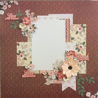handmade scrapbook page 12 X 12 Live Well Love Beyond Words Layout